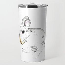 Some'bunny' Loves You (Single Bunny/White) Travel Mug