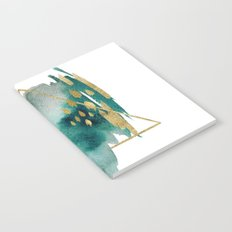 Abstract Geometric gold Notebook
