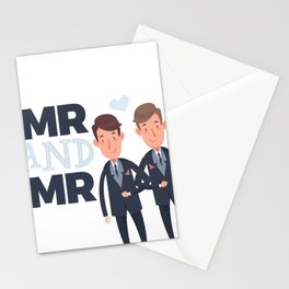 Mr and Mr gay wedding Stationery Cards
