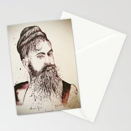 Beard's woman Stationery Cards