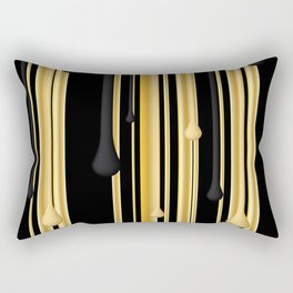 DRIPPING IN GOLD Rectangular Pillow