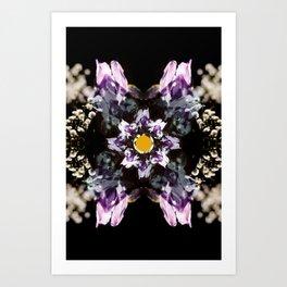 iris psychedelia Art Print