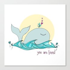 You Are Loved From The Deep Blue Sea Canvas Print