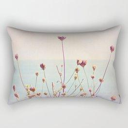 Beach Flowers Rectangular Pillow
