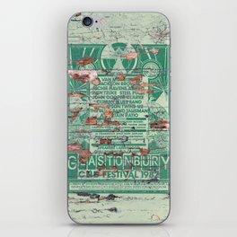 Distressed Glastonbury 1982 Poster iPhone Skin
