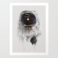 astronaut Art Prints featuring Astronaut by Daniel Taylor
