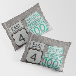 Vermont Street Signs Pillow Sham