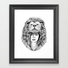 Lion Lady Framed Art Print