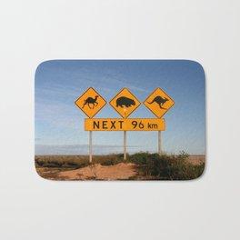 Popular Desert Roadsigns, Australia Bath Mat