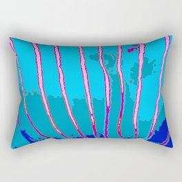 Blue Bongo Stripes Rectangular Pillow