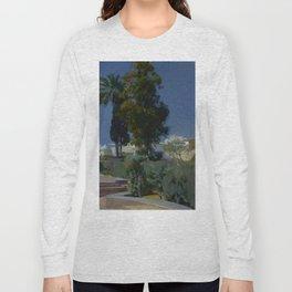 Joaquín Sorolla y Bastida (Spanish, 1863 - 1923) Corner of the Garden, Alcazar, Sevilla, 1910, Oil Long Sleeve T-shirt