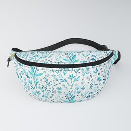 Blue primroses, aromatic herbs Fanny Pack