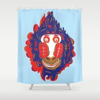 gorilla Shower Curtains featuring Gorilla by echo3005
