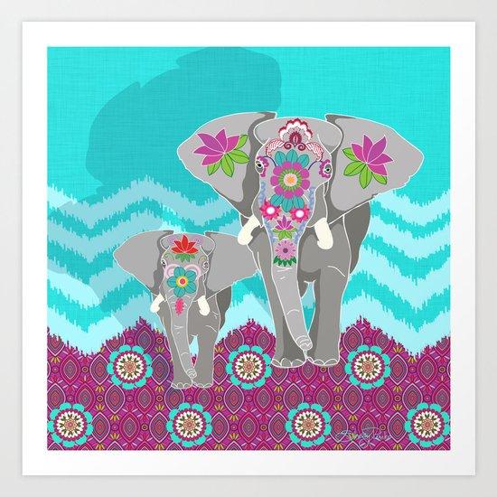 Elephant Festival Art Print