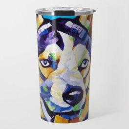Pop Art Husky Travel Mug