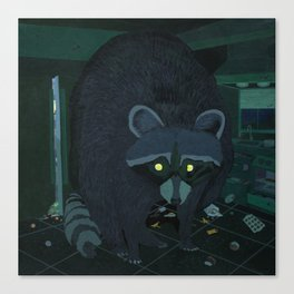 Radioactive Raccoon Canvas Print