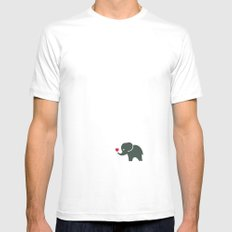 Elliefant Mens Fitted Tee White LARGE