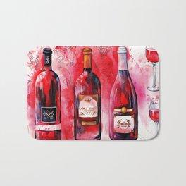 Red wine Bath Mat