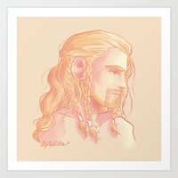 fili Art Prints featuring Fili ColorPalette by ScottyTheCat