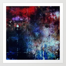 Modern Lost in Space Abstract Design Art Print