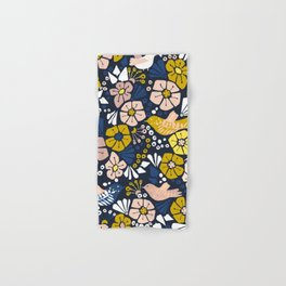 Blue wellness garden - florals matching to design for a happy life Hand & Bath Towel