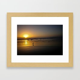 Sunset over the Pacific Framed Art Print