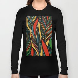 Tropical color leaves pattern Long Sleeve T-shirt