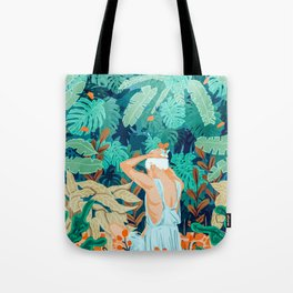 Backyard #illustration #painting Tote Bag