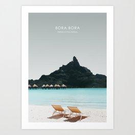 Bora Bora, French Polynesia Travel Artwork Art Print