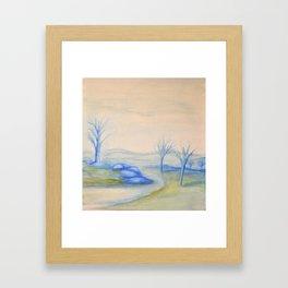 Frigid Escape Framed Art Print