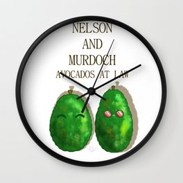 Daredevil Nelson And Murdoch Avocados At Law Wall Clock