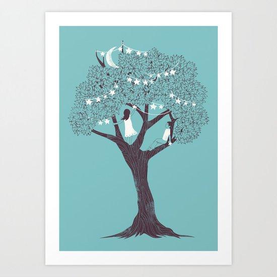 I Saw Stars Art Print