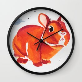 A Curious Looking Bunny! Wall Clock