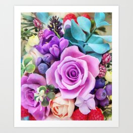 Romantic garden III Art Print