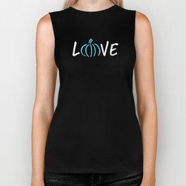 Teal Pumpkin Project Love Food Allergy Awareness Halloween Trick or Treat Shirt Biker Tank