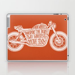 Four wheels transport the body, two wheels move the soul Laptop & iPad Skin