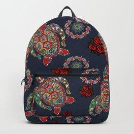 Boho Sea, Turtle Rose Backpack