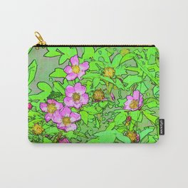 Sitka Rose Watercolor Carry-All Pouch