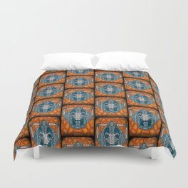 cyberman stained glass Duvet Cover