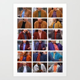 Seinfeld in Color 4 Art Print