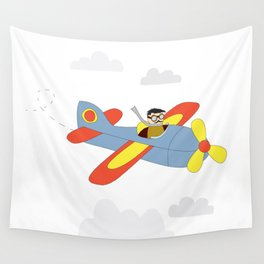 Plane Ride Wall Tapestry