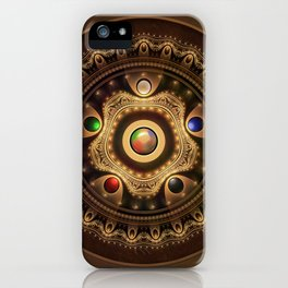 Gathering the Five Fractal Colors of Magic iPhone Case