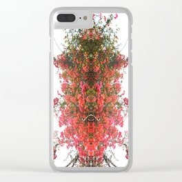 Mirrored Trees 7 Clear iPhone Case