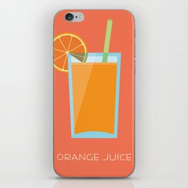 Orange Juice iPhone Skin