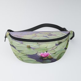Lily pond with pink water lilies Fanny Pack