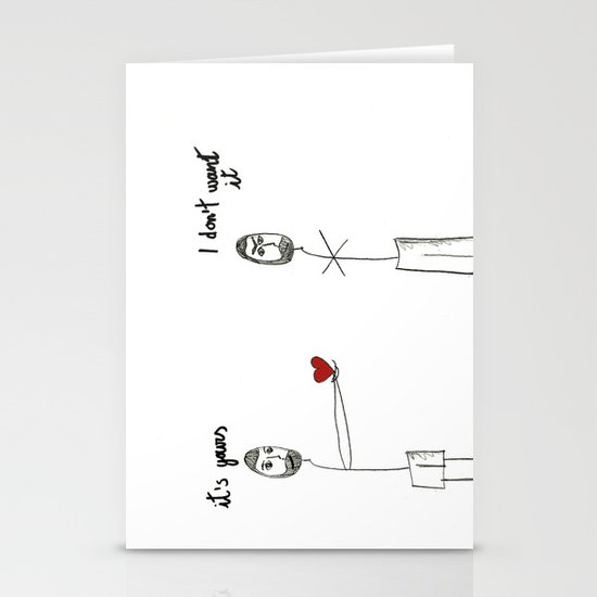 My heart is yours Stationery Cards