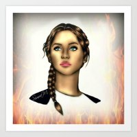 Katniss Everdeen Digital Art Art Print