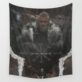 When Iron Meets Flesh Wall Tapestry
