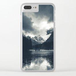 Darkness and rain at Zgornje Jezersko, Slovenia Clear iPhone Case