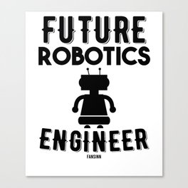Robotic machine computer engineer Canvas Print